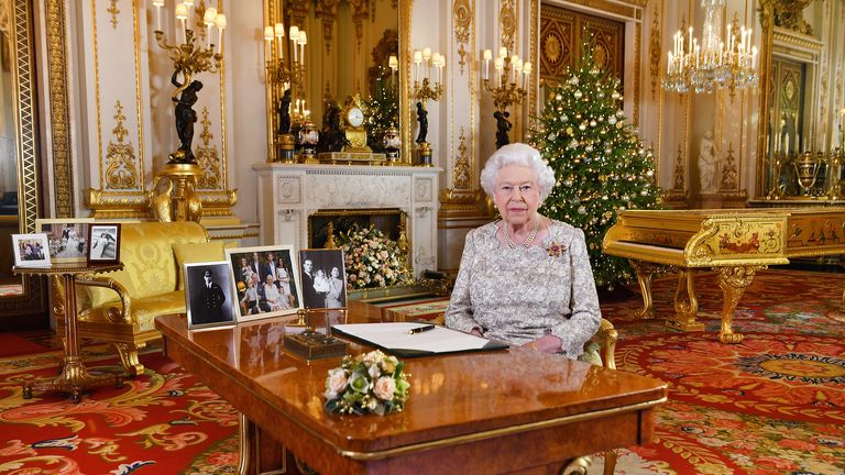 Queen Elizabeth II after she recorded her annual Christmas Day message