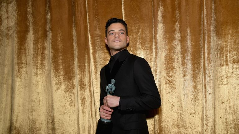 Rami Malek attends the 25th Annual Screen Actors..Guild Awards at The Shrine Auditorium on January 27, 2019 in Los Angeles, California