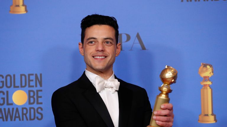 Rami Malek won the Golden Globe for his portrayal of Freddie Mercury in Bohemian Rhapsody
