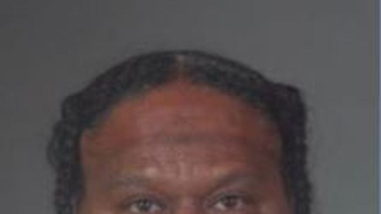 Reginald Wallace, 47, of Los Angeles, who is suspected of the bowling alley shooting in California
