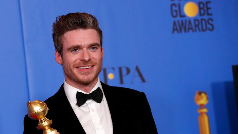 Richard Madden wins a Golden Globe for his role in Bodyguard