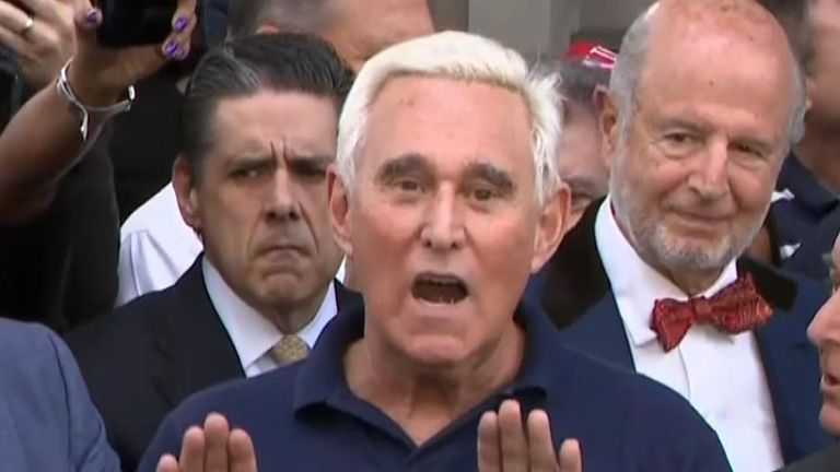 Trump ally Roger Stone protests his innocence.