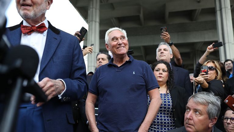 Roger Stone has been freed on bail