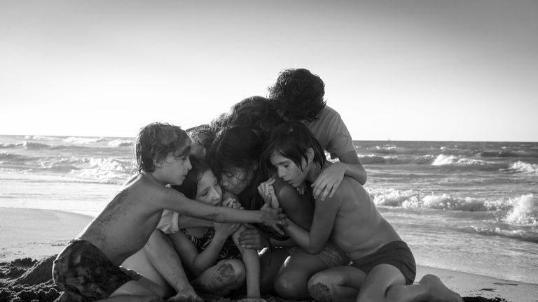 Roma is up for 10 Oscars. Pic: David Lee/Focus Features/Kobal/REX/Shutterstock