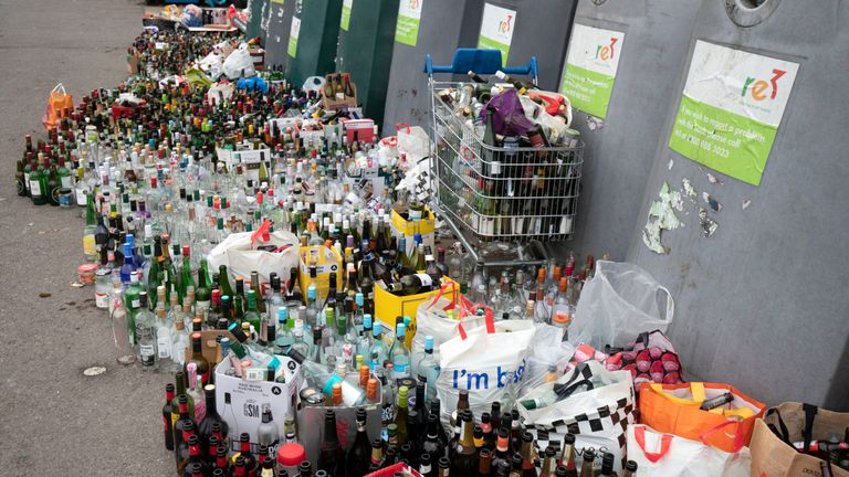 Bottle banks are overflowing following the festive period