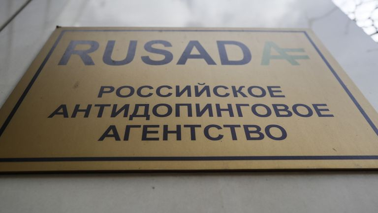 The office of Russian Anti-Doping Agency (RUSADA) in Moscow,