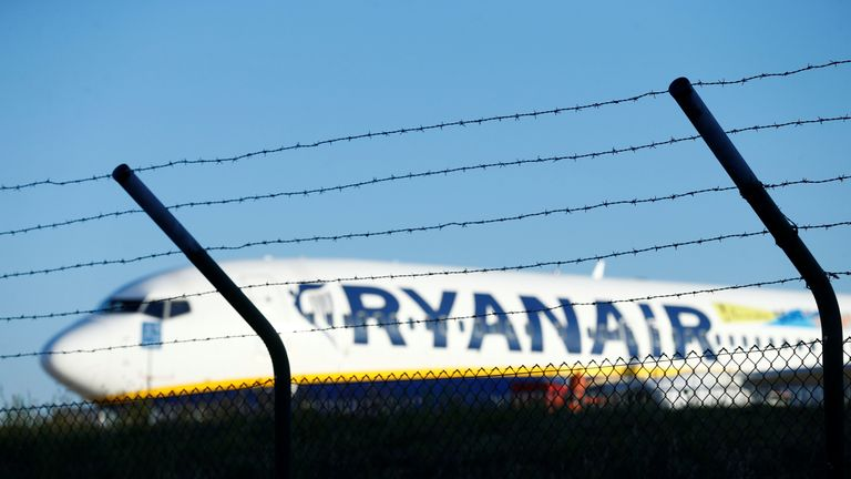 Ryanair apologised and said the situation was beyond its control. File pic