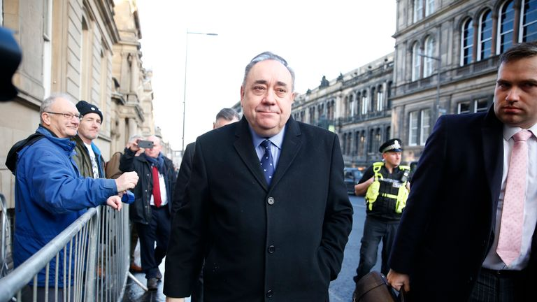 Alex Salmond arrived at court just before 2pm