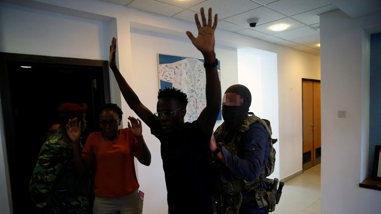Security forces helped free civilians in the hotel in Nairobi