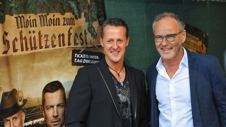 Schumacher at one of his last public appearances in 2013 before the accident