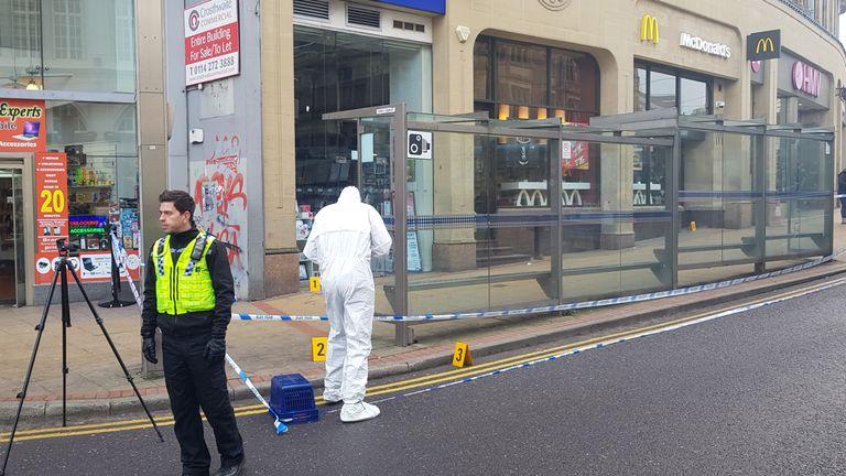 A man was injured in a machete attack in Sheffield