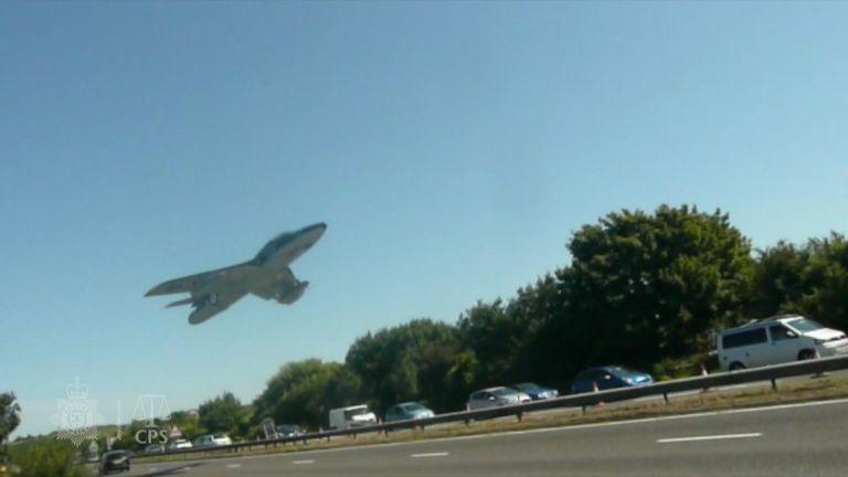 Moment of Shoreham plane crash - CPS credit
