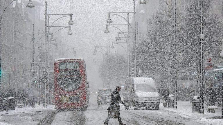 Snow is expected to fall across parts of the UK in the coming days