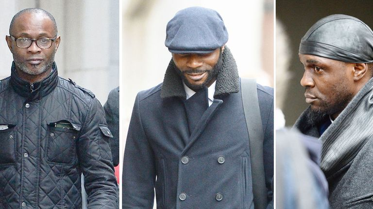 Bright, Stephen and Efe Sodje were jailed in 2017