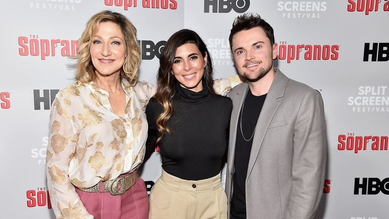 Edie Falco, Robert Iler and Jamie-Lynn Sigler attend the 'The Sopranos' 20th Anniversary Panel Discussion at SVA Theater on January 09, 2019 in New York City. (Photo by Theo Wargo/Getty Images)