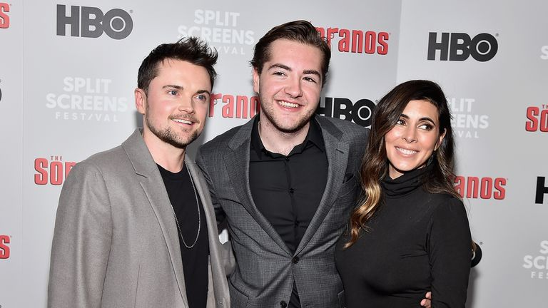 Robert Iler, Michael Gandolfini and Jamie-Lynn Sigler attend the 'The Sopranos' 20th Anniversary Panel Discussion at SVA Theater on January 09, 2019 in New York City. (Photo by Theo Wargo/Getty Images)