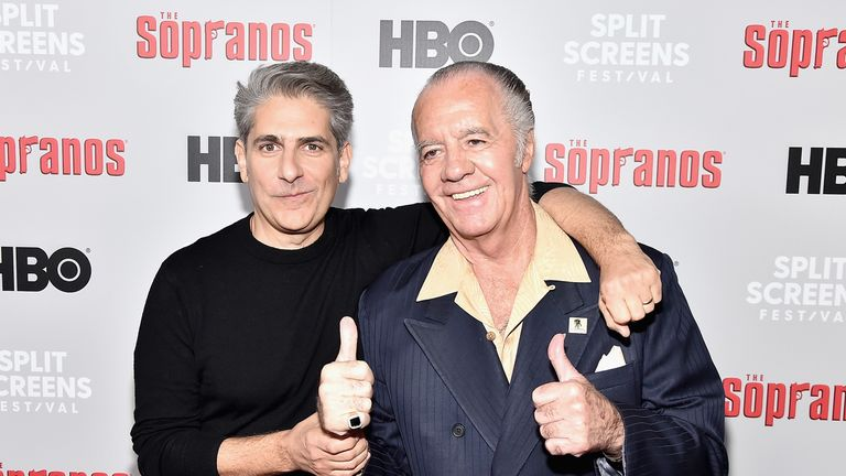 Michael Imperioli and Tony Sirico attend the 'The Sopranos' 20th Anniversary Panel Discussion at SVA Theater on January 09, 2019 in New York City. (Photo by Theo Wargo/Getty Images)