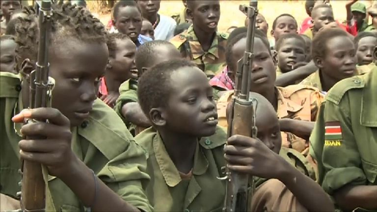Some 19,000 children are estimated to still be working for different militias