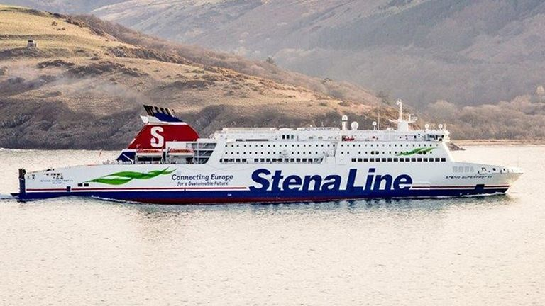 The Stena Superfast VII operates between Northern Ireland and Scotland