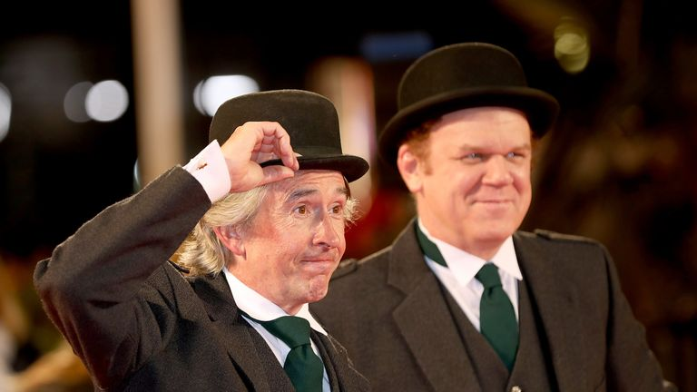 Steve Coogan and John C Reilly at the world premiere of Stan & Ollie in London