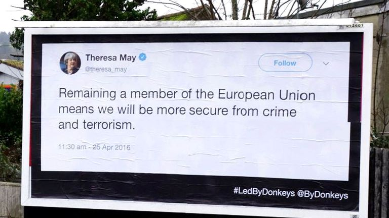 Theresa May advocated staying in the EU