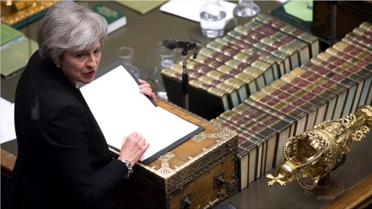 Theresa May after the amendments were voted on