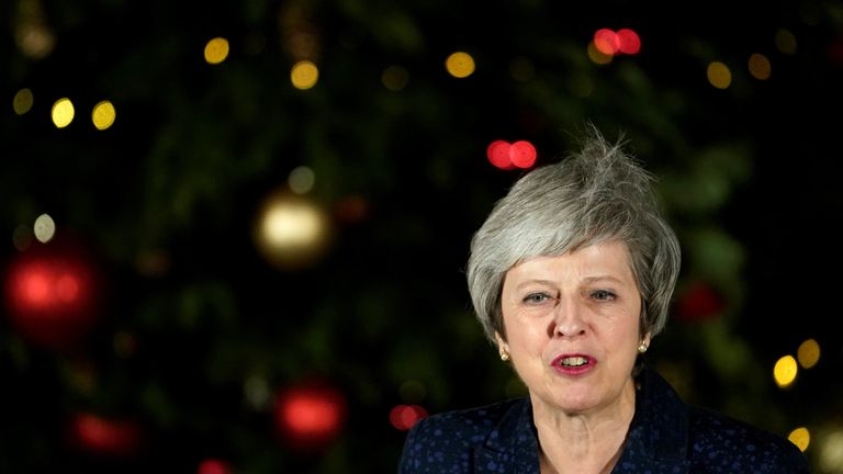 Theresa May won a confidence vote in her leadership before Christmas