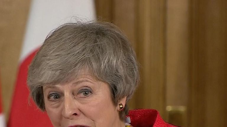 Theresa May explains the difference between having a deal and not having one