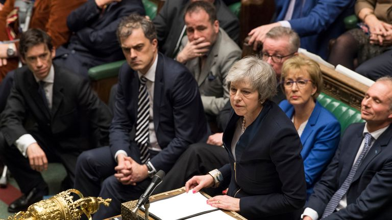 Theresa May in the Commons Pic: UK Parliament/Jessica Taylor