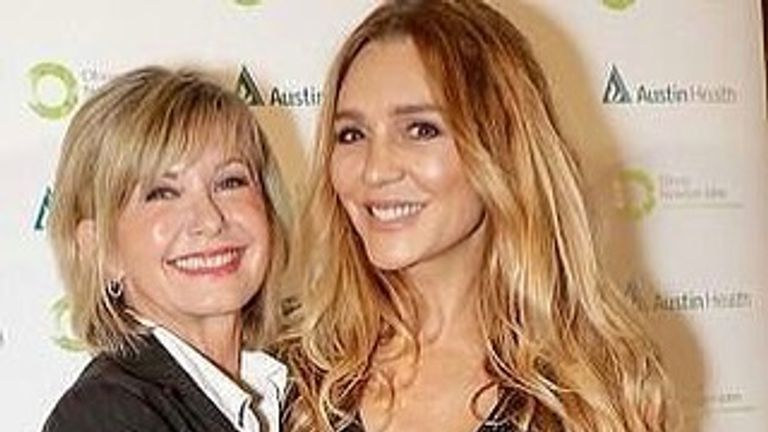 Her niece Tottie shared a picture explaining the Grease star was in good health