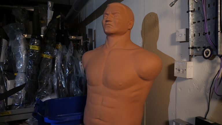 Training dummies are normally used in martial arts