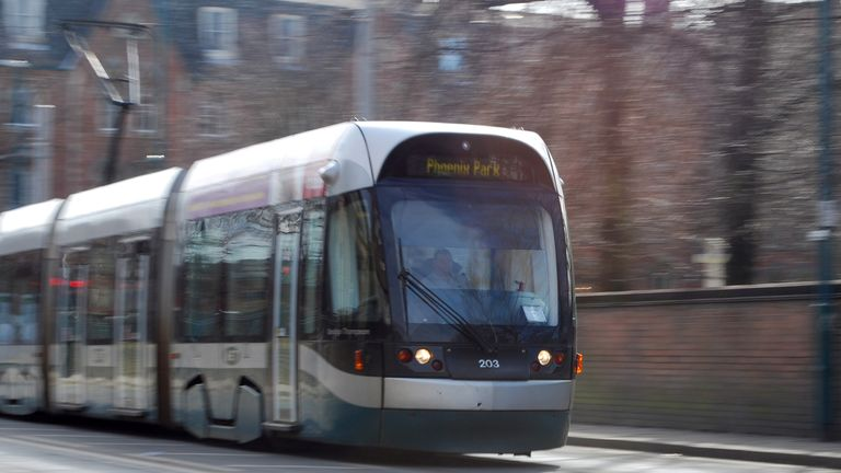 Nottingham has used the parking levy cash to boost its tram network