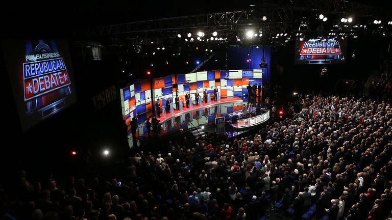 A Republican candidate debate in Charleston in 2016