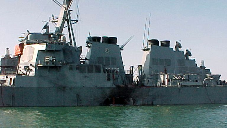 The attack killed 17 sailors in October 2000