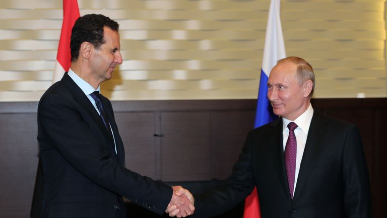 Russian President Vladimir Putin is a key ally of his Syrian counterpart Bashar al-Assad