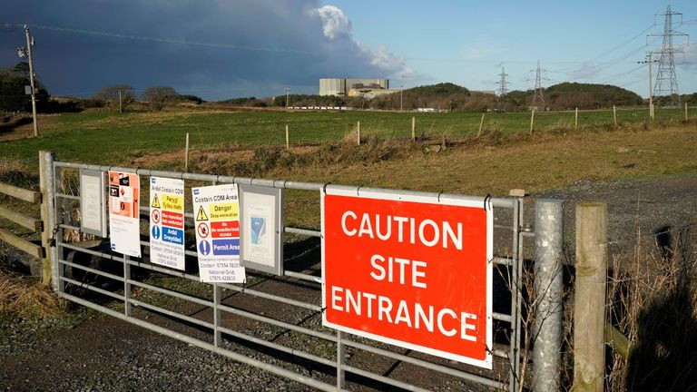 The site in the foreground was to be the location of the new Wylfa Newydd reactor on Anglesey