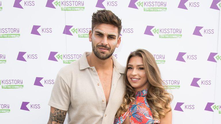 Zara with boyfriend Adam Collard, whom she met on ITV2's Love Island