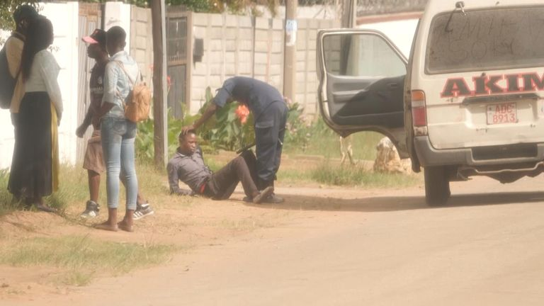 Man beaten up by police in Zimbabwe