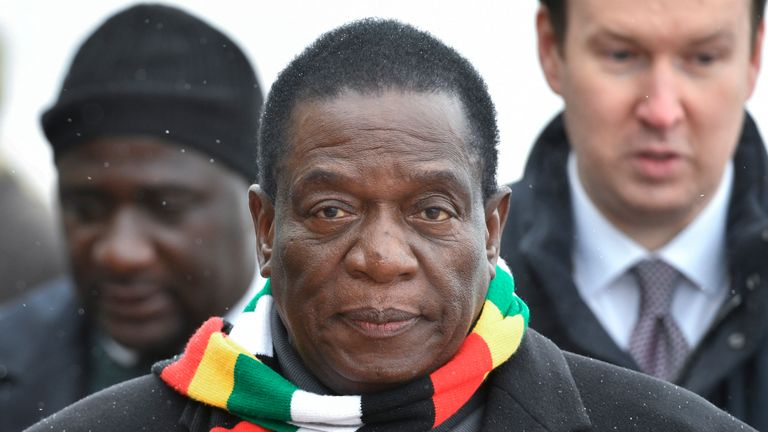 Mr Mnangagwa visited Russia before returning to Zimbabwe