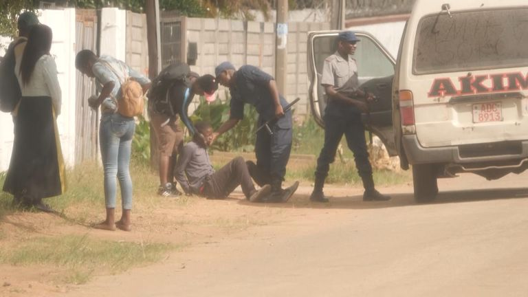 Man beaten up by police