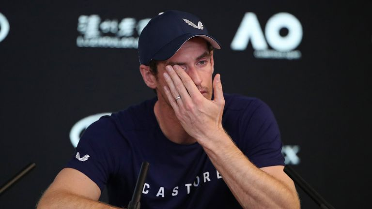 Murray reveals the extent of his struggles with a hip injury