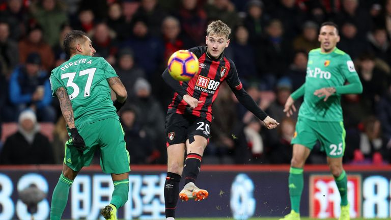 Bournemouth draws 3-3 with Watford after wild 1st half