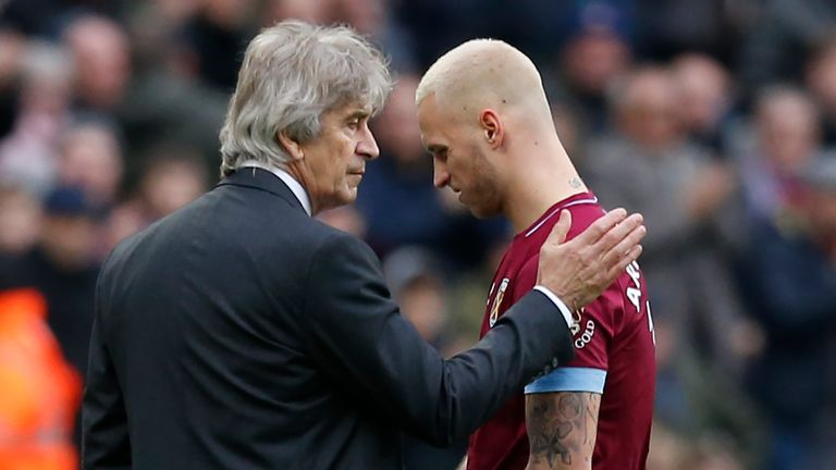 Manuel Pellegrini admits Marko Arnautovic transfer speculation hindered West Ham at Wimbledon