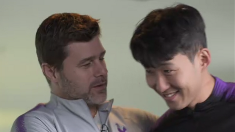 WATCH: Harry Kane and Heung-Min Son interrupt Mauricio Pochettino interview | Football News |