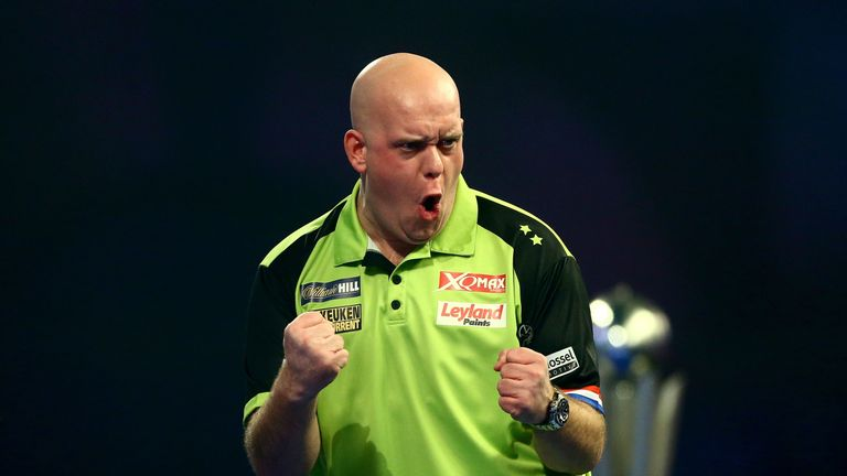 Van Gerwen took out double 16 to seal victory in the final
