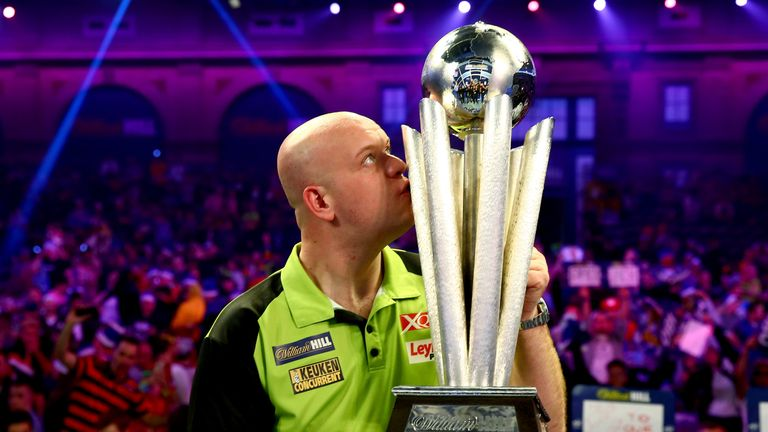 Van Gerwen says he is ready to become the 'king of darts' for the next decade