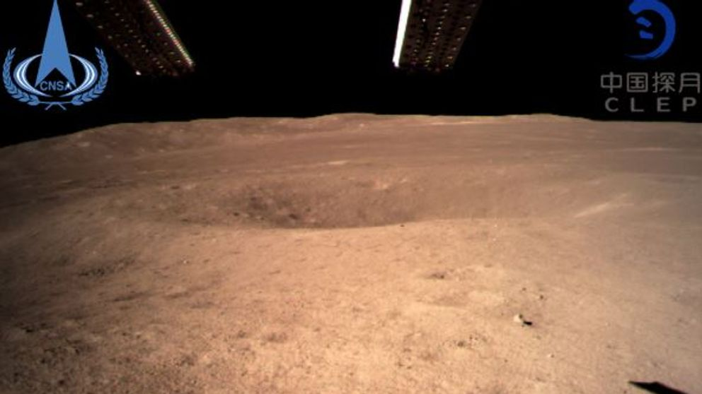 The back of the moon on the south side of the landing site. Pic: China National Space Administration