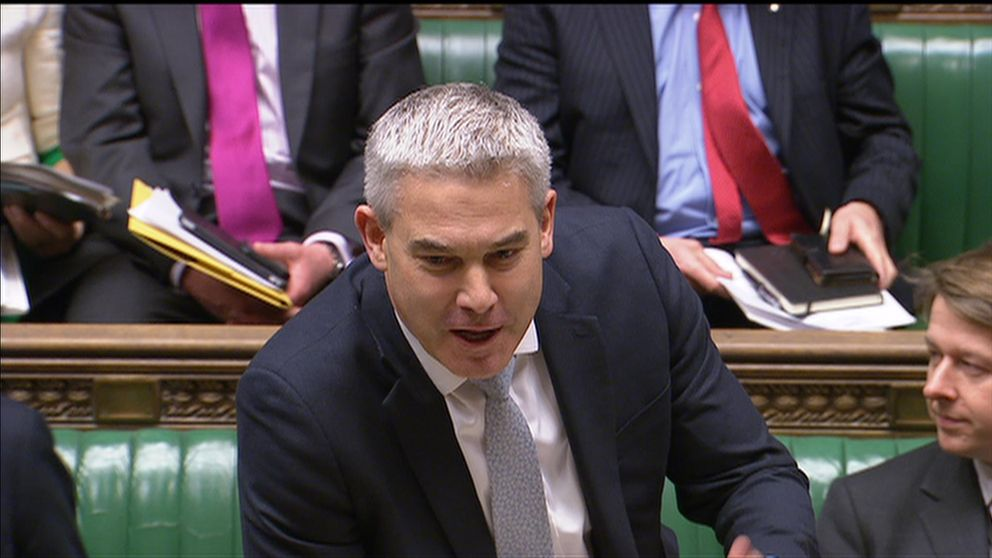 Stephen Barclay speaking in parliament on 07/01/19