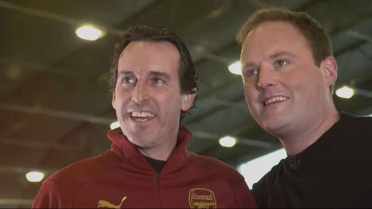 Arsenal manager Unai Emery speaks to Soccer AM's Tubes about his hatred for losing, love for the Premier League, and why he's always animated...