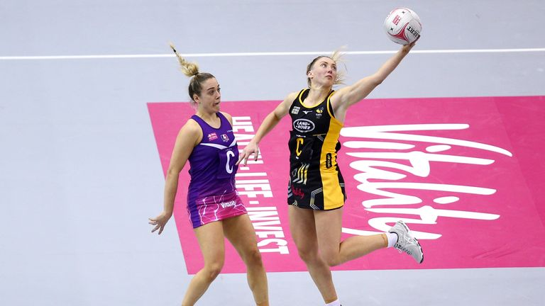 Watch highlights of Wasps Netball's victory over Saracens Mavericks